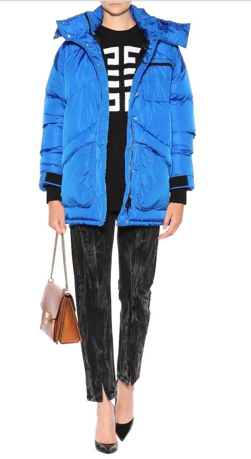 модный яркий пуховик Givenchy Италия зима 2020 тренд стильный дутик