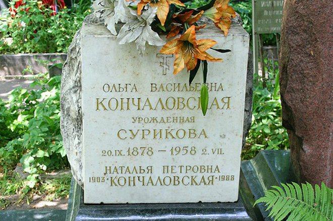 Могила Натальи Кончаловской