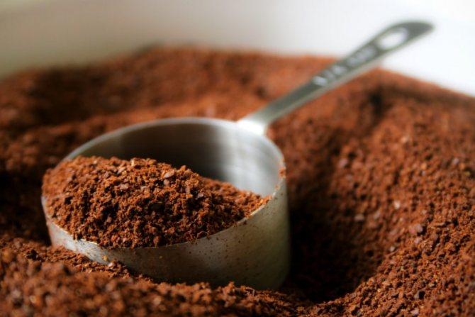 молотый кофе для кофейного скраба