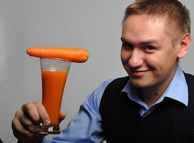 Морковный сок для мужчин