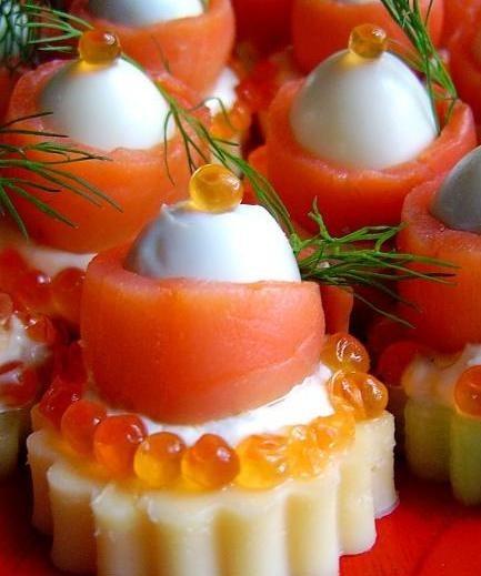 Морская закуска из семги