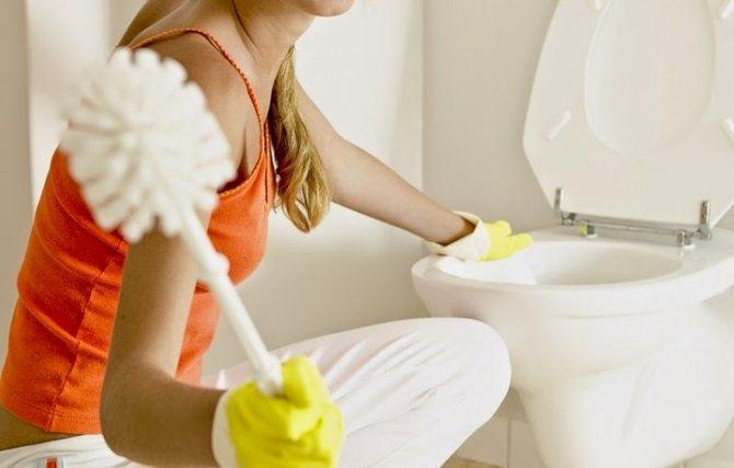 Моющее средство, щетка и туалет чистый за 60 секунд!