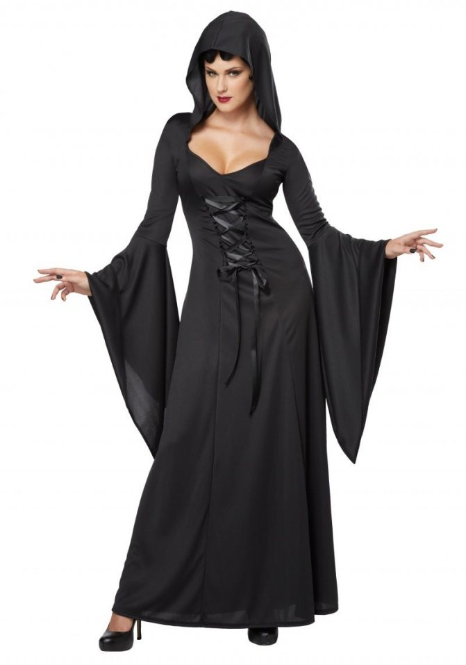 Мрачный наряд Ведуньи на Helloween