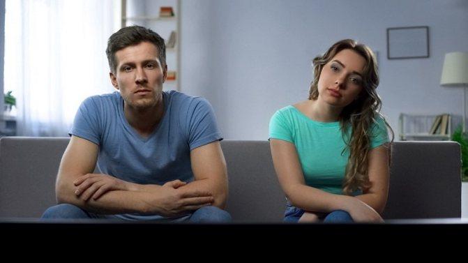Мужчина и женщина думаю как прекратить постоянные ссоры в семье