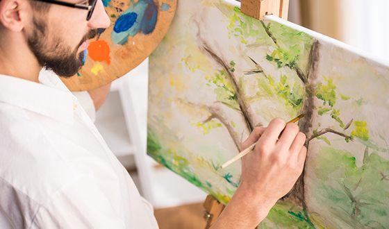 Мужчина-Водолей может стать талантливым художником