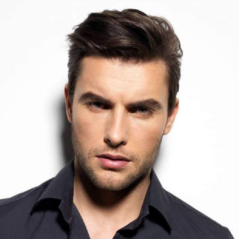Фото мужских причесок для ромбовидного типа лица