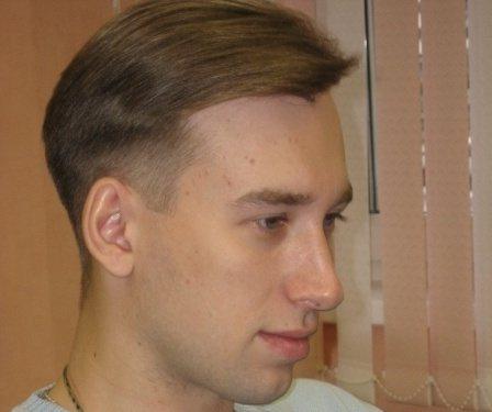 Мужская стрижка Полька