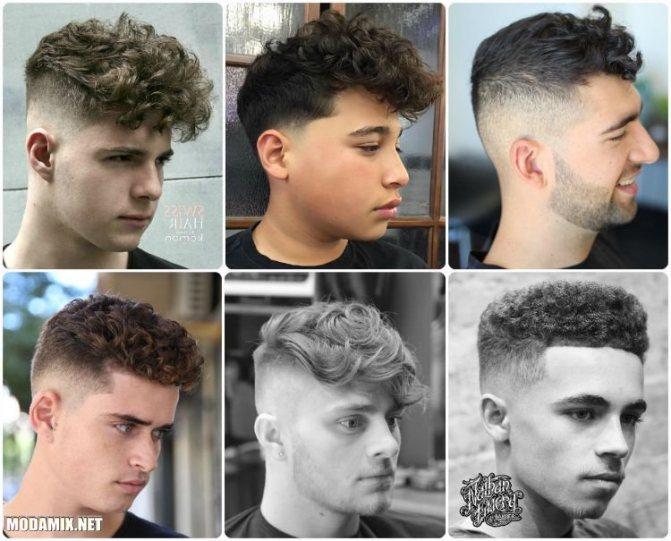 Мужские стрижки 2020 на кудрявые волосы