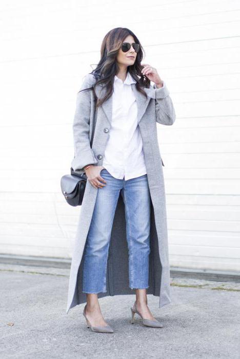 мужское пальто с джинсами