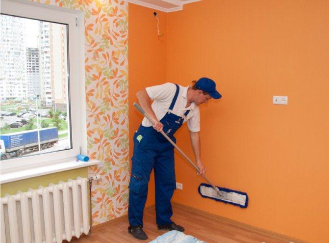 Мытьё стен
