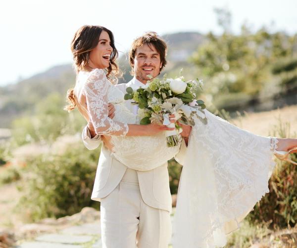 На фото: Свадьба Йена Сомерхолдера и Никки Рид