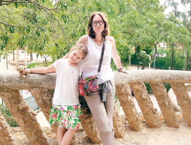 На отдыхе с дочерью. Аглае уже семь лет