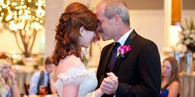 На свадьбах принято танцевать с отцом