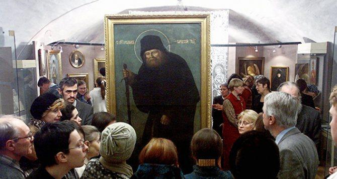 На выставке Преподобный Серафим Саровский в Москве