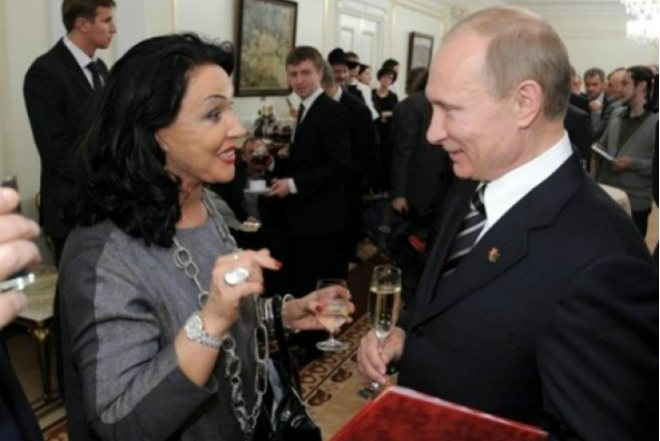 Надежда Бабкина и Владимир Путин