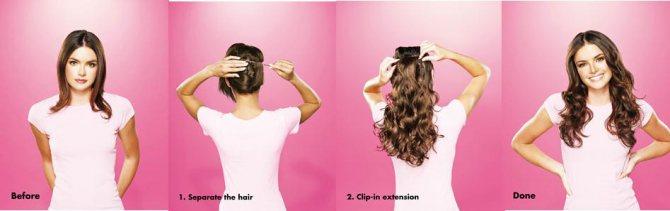 накладные волосы: фото 3
