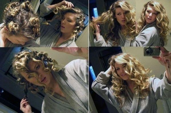 накручивание волос на ночь