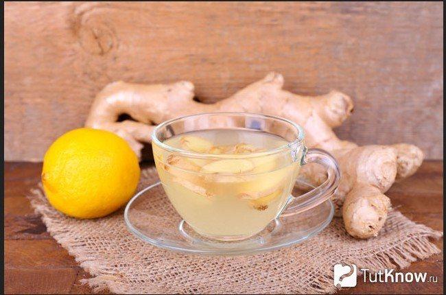 Напиток с имбиря и лимона
