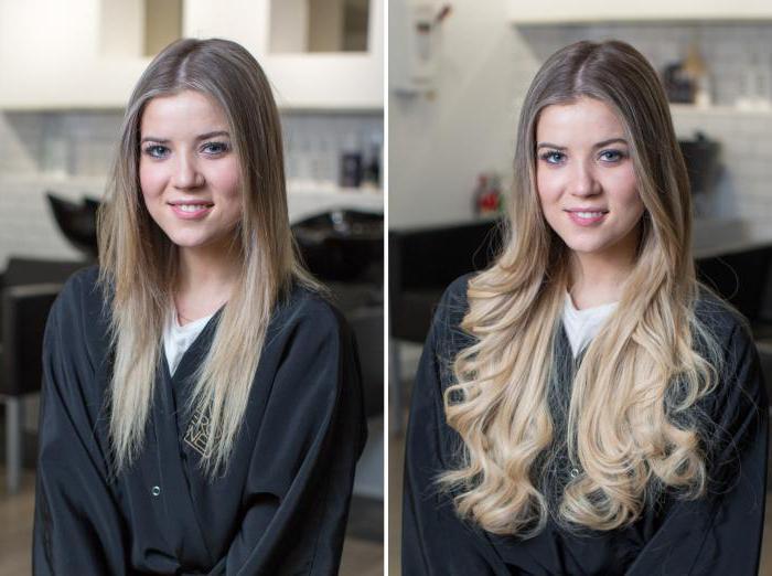 наращивание волос на косичках