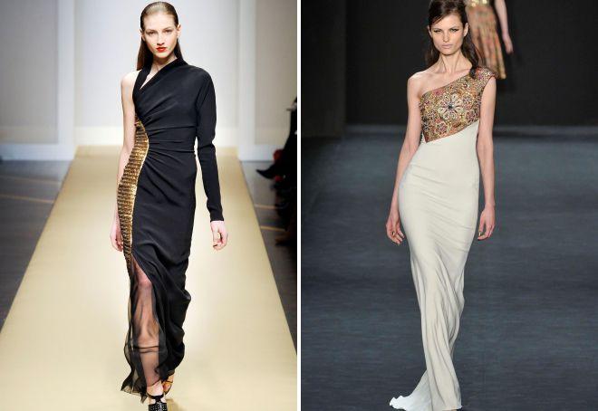 нарядные платья с открытыми плечами
