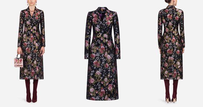 Нарядоное пальто Dolce Gabbana 2018