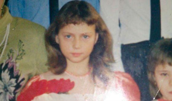 Настя Самбурская в детстве
