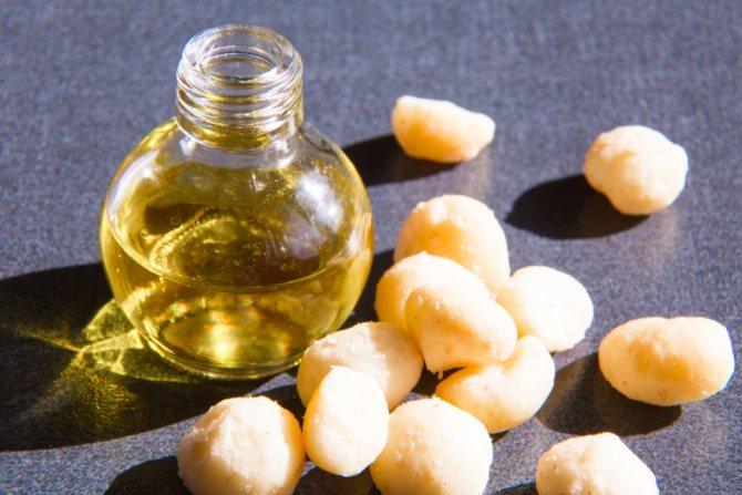 Натуральное масло из орехов макадамии