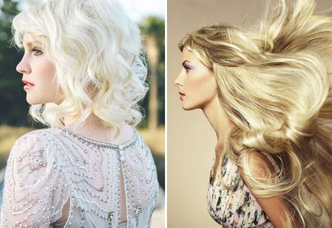 Натуральные белые волосы