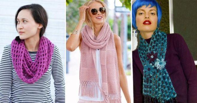 Необычные вязаные шарфы