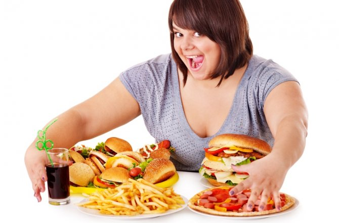 Неправильное питание - основная причина ожирения