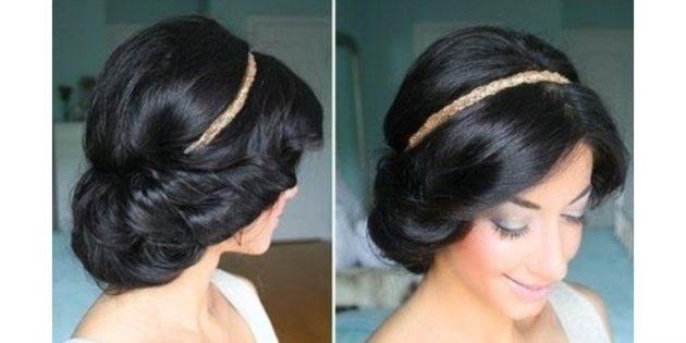 Несложная причёска в греческом стиле не только отлично смотрится в любой обстановке, но и помогает создать мягкие локоны без вреда для волос
