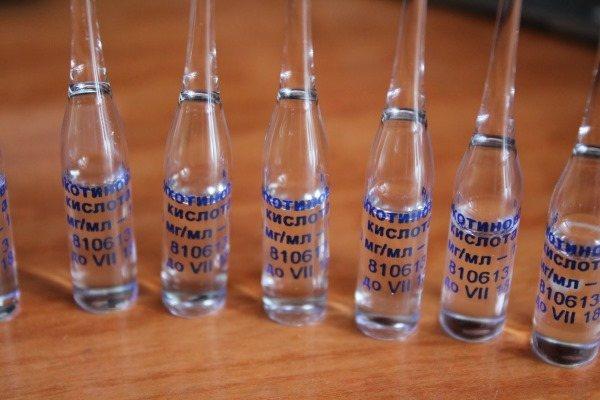 Никотиновая кислота для бровей и ресниц в ампулах. Применение, как пользоваться, фото, отзывы