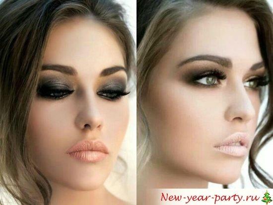 Новогодний макияж 2021, фото образ