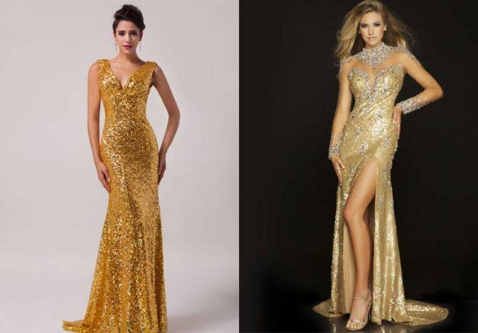 Новогодний наряд в золотом цвете