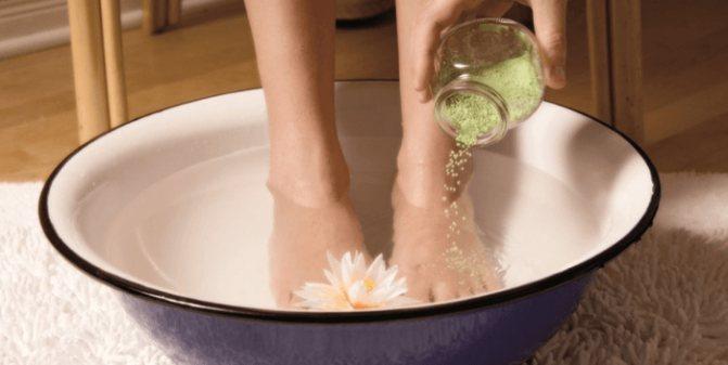 ножные ванны с солью