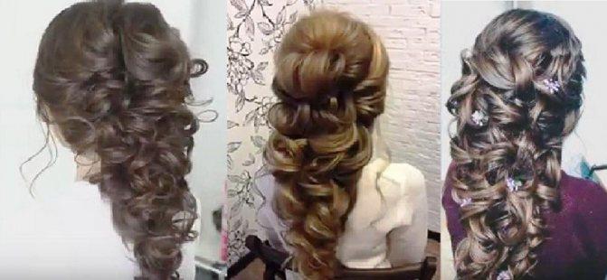 Объемная греческая коса из локонов