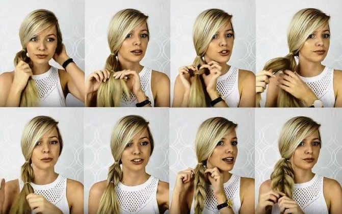 Объёмная коса на хвосте с описанием пошагово