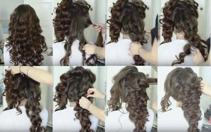 Объёмная коса в греческом стиле, пошаговое выполнение с фото