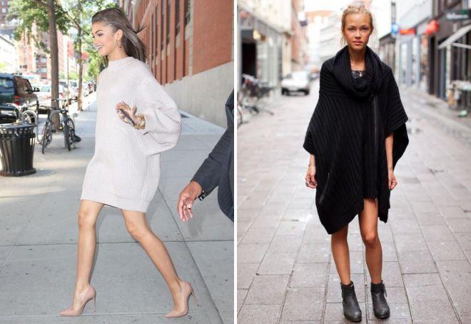 объемное платье свитер