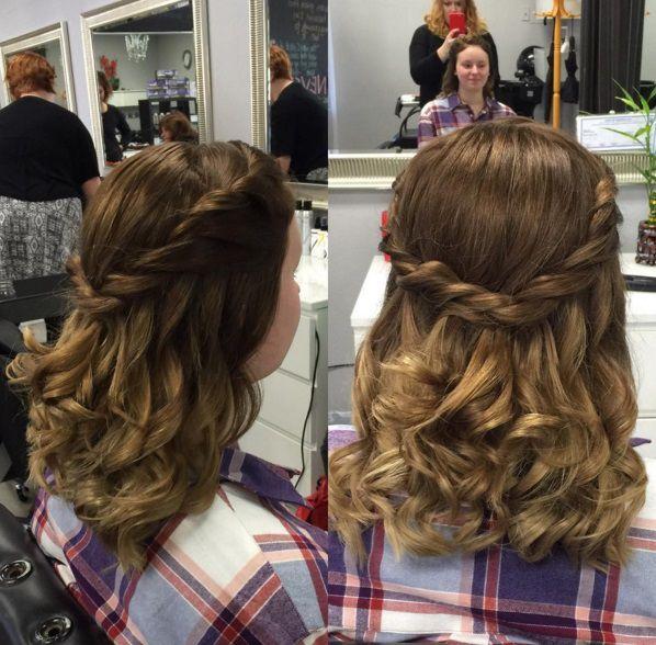 ободок из волос на вьющиеся волосы