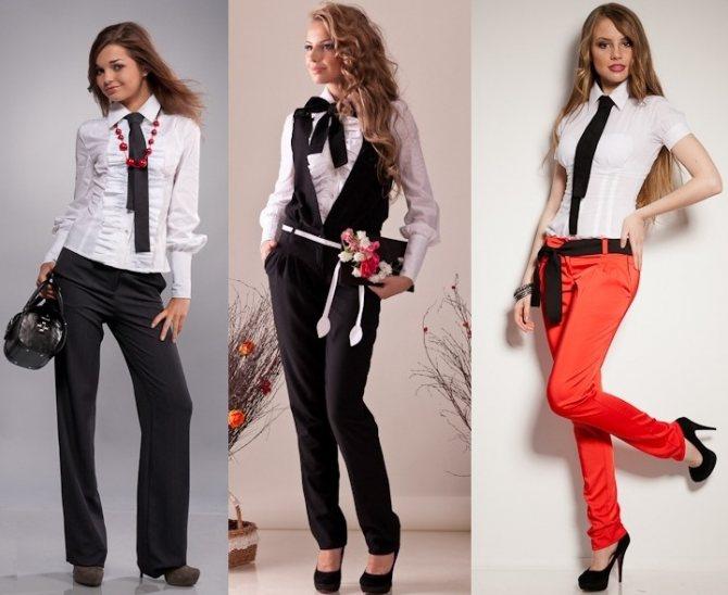 Образ одежды на День знаний: брюки и блуза