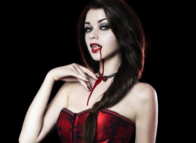 Образ вампира на хеллоуин