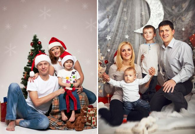образы для новогодней семейной фотосессии