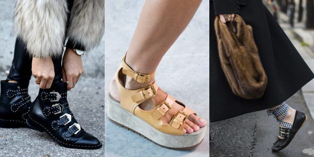Обувь с пряжками каакая в моде