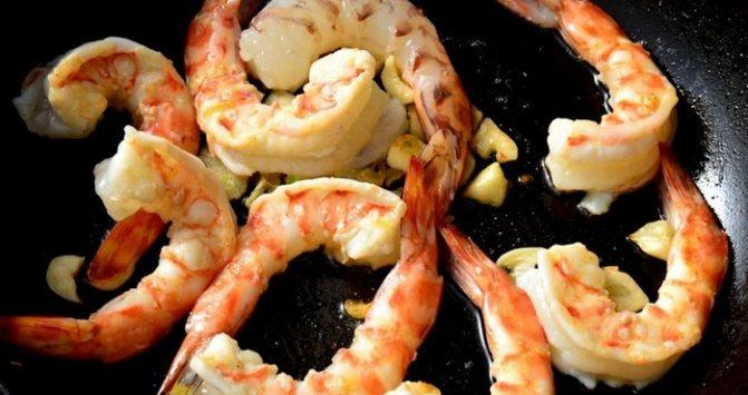 обжарка морепродуктов