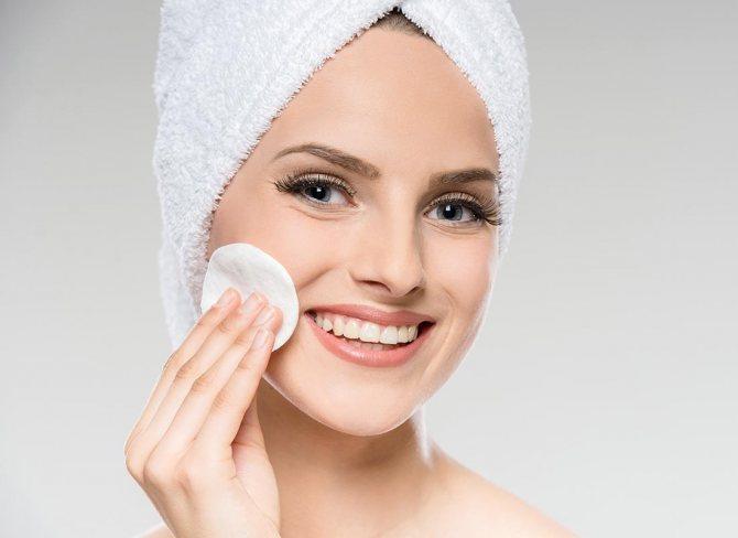 Очищение комбинированной кожи