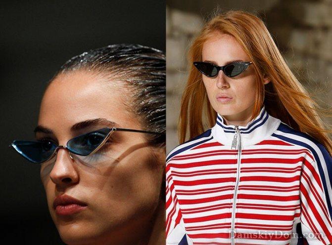 очки с острыми углами