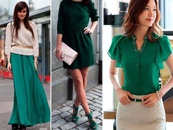 Одежда изумрудного цвета