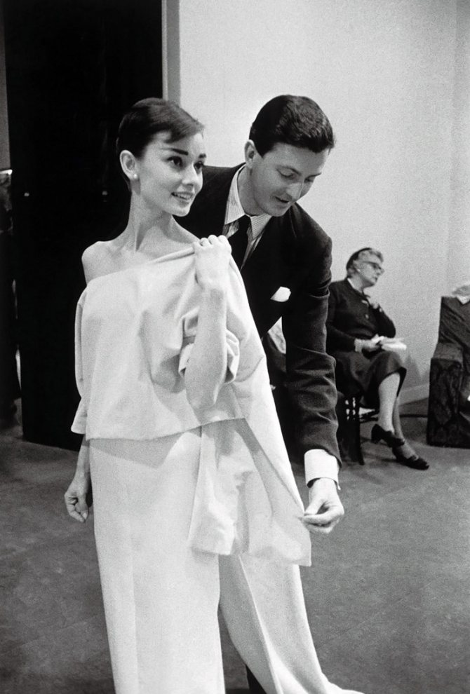 Одри Хепберн и Юбер де Живанши, 1956 год