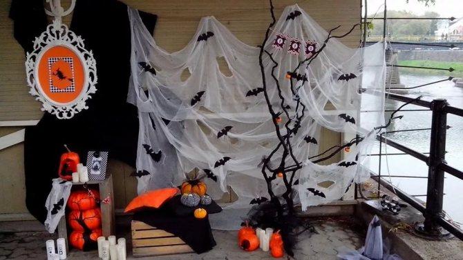оформление комнаты на хэллоуин